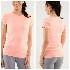 Lululemon Run Swiftly Tech Short Sleeve Pop Orange